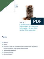 IAS 20 - Contabilizacion de Las Subvenciones Del Gobierno - Participante