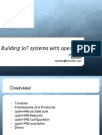 Building IoT Systems With OpenHAB