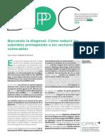 Buscando La Diagonal. Cómo Reducir Los Subsidios Protegiendo a Los Sectores Vulnerables.
