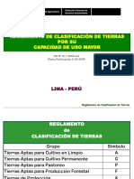 Reglamento de Capacidad de Uso Mayor CUM Perú
