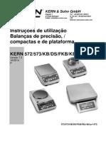 Manual Instruções de Utilização Balança Kern