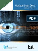 BSI BCI Horizon Scan Report 2015 UK En