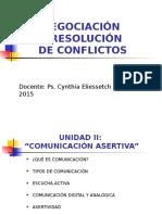 Unidad II Negociación y Resolución de Conflictos