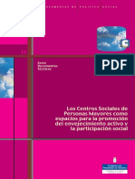 Los Centros Sociales de Mayores Para Promoción Envejecimiento Activo