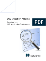 SQL Injection Detection Web Environment
