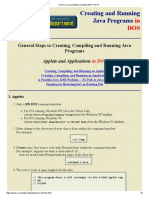 How to Run Java Applets and Applications in DOS