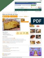 Receita de Bolo Sem Farinha de Trigo - Cyber Cook Receitas