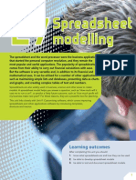 Unit 27 Spreadsheet Modelling