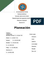 Universidad de Orient1. Planeacion Tema 1 de Direccion Industrial