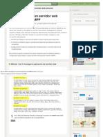 Formas de Configurar Un Servidor Web Personal Con XAMPP