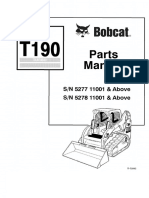 PDF Bobcat t190 Parts Manual Sn 527711001 and Above Sn 527811001 and Above