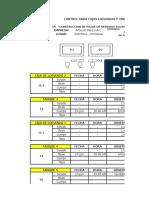 Control de Cajas Lixiviadas - Tanque