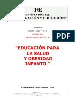 Educacion Para La Salud Y Obesidad Infantil