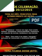 Culto de Celebração 20.12.2015 Powerpoint