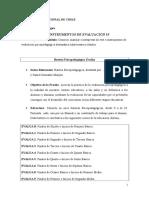 Instrumentos de Evaluación psp
