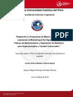 Valdivia Carlos Diagnostico Propuesta Mejora Procesos Six Sigma Fabrica Mantenimiento Mobiliario Supermercados Tiendas Comerciales