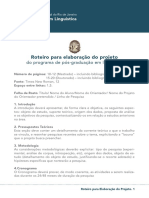 Roteiro-Projeto - Doutorado