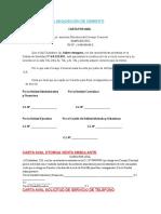 Carta Aval Para Adquisición de Cemento