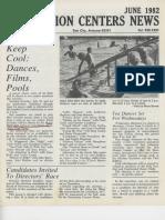 June 1982 Recreation Centers News