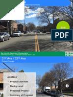 31st 32nd Ave Bike Lanes Cb 3 Dot Presentation