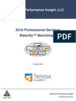 2016 Professional Services Maturity™ Benchmark