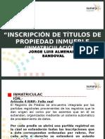 Urbanístico 11 de Julio - Inmatriculación (1)