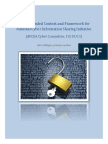 Recommended Context and Framework for Cyber Information Sharing Initiative