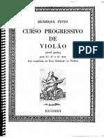 Curso Progressivo de Violão (nível médio) - Henrique Pinto