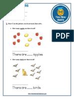 Math Grade 1 Worksheet #1 - Word Problems
