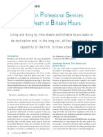 Pricing in Professional Services - The Death of Billable Hours