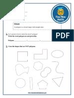 Math Grade 2 Worksheet #3 - Polygons