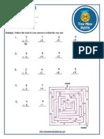 Math Grade 3 Worksheet #1- Multiplication Table
