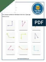 Math Grade 3 Worksheet #2 - Right Angles