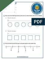 Math Grade 5 Worksheet #2 - Mixed Number