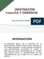 Administracion Publica y Gerencia