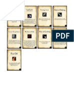 Kings Of War Item Cards