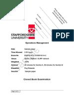 Sample Level 2 Operations Management Exam