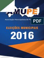 Cartilha Amupe - Eleições municipais 2016