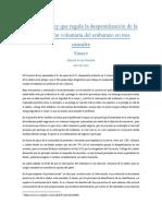 Ensayo sobre ley de aborto Chile