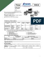 Omron H3CA Timer Datasheet