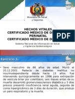 certificado de defuncion Bolivia