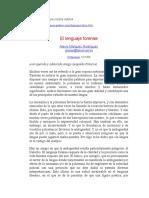 Antecedentes de La Logica Jurica. Lenguaje Forense