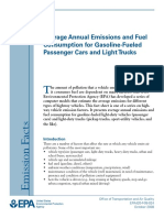 Average Annual Emissions and Fuel Consumption for Gasoline-Fueled Passenger Cars and Light Trucks