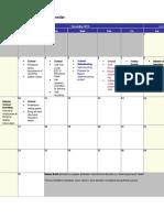 Believing Game Calendar