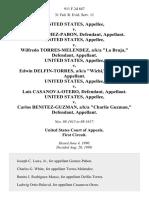 """United States v. Luis E. Gomez-Pabon, United States v. Wilfredo Torres-Melendez, A/K/A """"La Bruja,"""" United States v. Edwin Delfin-Torres, A/K/A """"Wichi,"""" United States v. Luis Casanova-Otero, United States v. Carlos Benitez-Guzman, A/K/A """"Charlie Guzman,"""", 911 F.2d 847, 1st Cir. (1990)"""