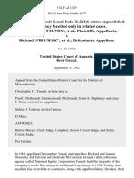 Christopher C. Trundy v. Richard Strumsky, 974 F.2d 1329, 1st Cir. (1992)