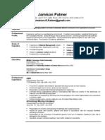 Jobswire.com Resume of jamisondpalmer