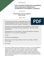 In Re Trustees of Boston University, 993 F.2d 1531, 1st Cir. (1993)