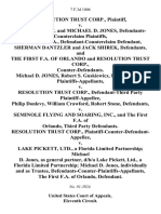 Resolution Trust Corp. v. Dunmar Corp. And Michael D. Jones, Defendants-Counterclaim the First F.A., Defendant-Counterclaim Sherman Dantzler and Jack Shirek, and the First F.A. Of Orlando and Resolution Trust Corp., Counter-Defendants. Michael D. Jones, Robert S. Guskiewicz, R.S. Futch, Jr. v. Resolution Trust Corp., Defendant-Third Party Philip Donlevy, William Crawford, Robert Stone v. Seminole Flying and Soaring, Inc., and the First F.A. Of Orlando, Third Party Resolution Trust Corp., Plaintiff-Counter-Defendant-Appellee v. Lake Pickett, Ltd., a Florida Limited Partnership Michael D. Jones, as General Partner, D/B/A Lake Pickett, Ltd., a Florida Limited Partnership Michael D. Jones, Individually and as Trustee, Defendants-Counter-Plaintiffs-Appellants, the First F.A. Of Orlando, 7 F.3d 1006, 1st Cir. (1993)