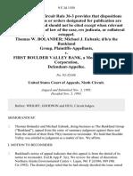 Thomas W. Bolander Michael J. Eubank D/B/A the Bankland Group v. First Boulder Valley Bank, a Montana Banking Corporation, 9 F.3d 1550, 1st Cir. (1993)